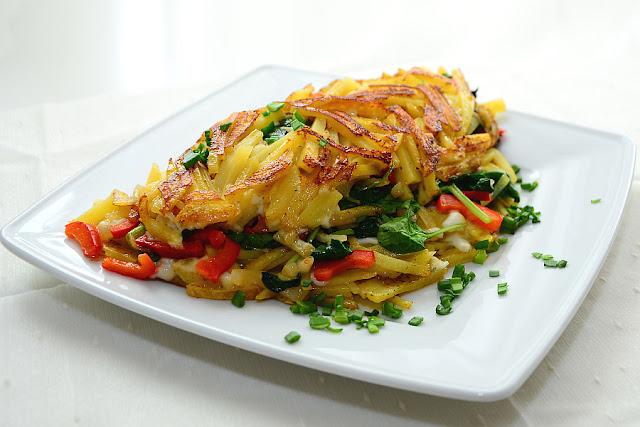 omlet ze szpinakiem i kozim serem