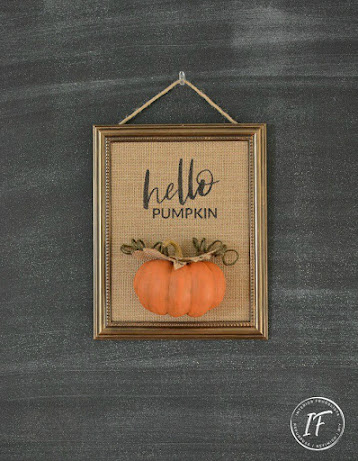Repurposed Dollar Store Mirror Fall Sign