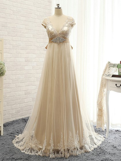 http://uk.millybridal.org/product/tulle-v-neck-empire-sweep-train-with-appliques-lace-bridesmaid-dresses-ukm01013397-20812.html
