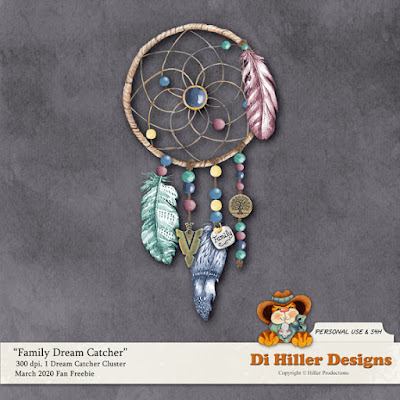 Family Dream Catcher Freebie by Di Hiller