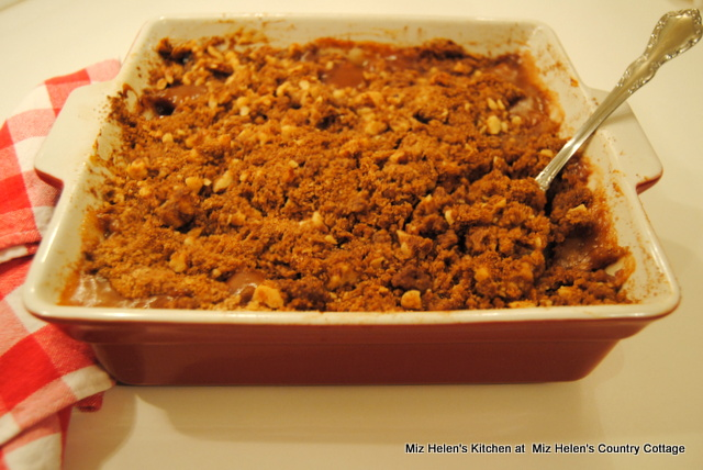 Pear Crisp With Walnut Crumble at Miz Helen's Country Cottage