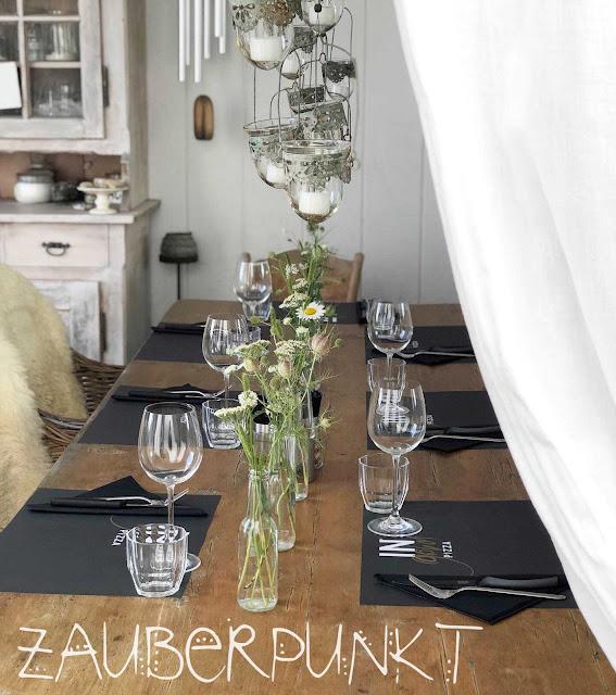 Tischdekoration mit Margeriten, Frühling, Frühlingsblumen, Freiluftzimmer, Tablesetting, Springtime, Homesweethome, Daheim ist es am schönsten, Gemütlich,