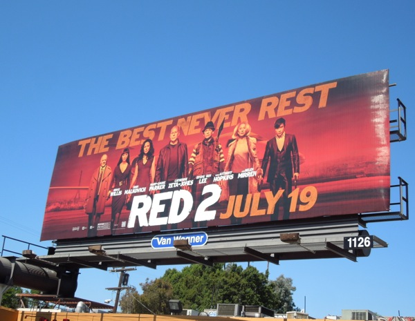 Red 2 best never rest billboard