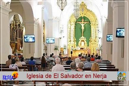 En su interior merece especial mención un mural dedicado a la Encarnación, obra de Francisco Hernández, y un Cristo de Bronce, obra de Aurelio Teno