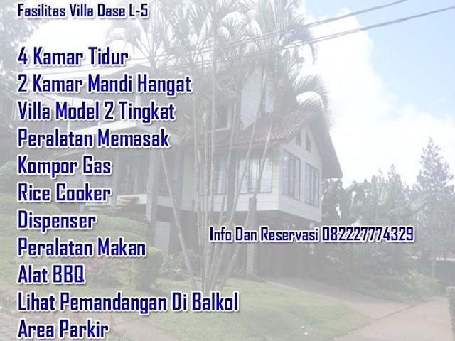 Fasilitas villa untuk 30 orang di lembang