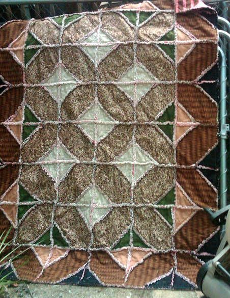 Indian Hatchet Rag Quilt Free Pattern