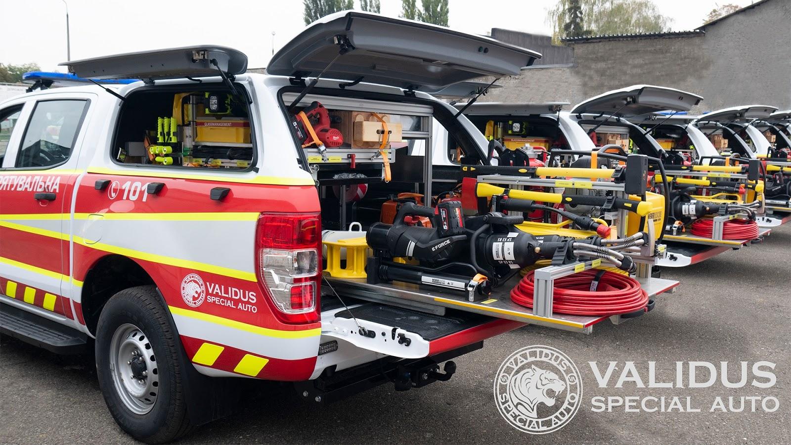ДСНС отримала 139 аварійно-рятувальних машин Ford Ranger