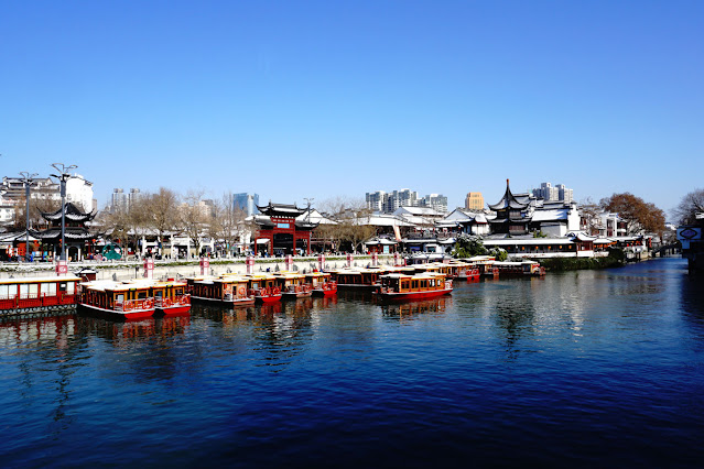 Qinhuai River after snow