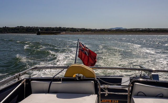 Photo of Ravensdale heading out from Maryport towards Three Fathoms Bank