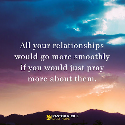 Restoring Relationships: First Talk to God by Rick Warren