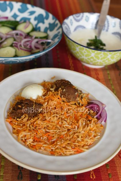 Mutton Biryani, Kolkata Mutton Biryani