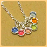 Cluster Birthstone Necklace