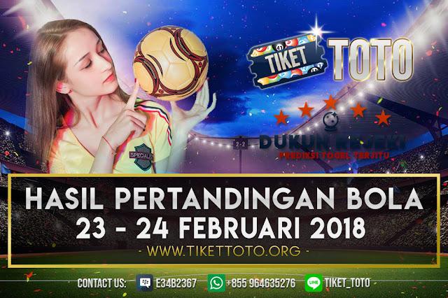 HASIL PERTANDINGAN BOLA 23 – 24 FEBRUARI 2019