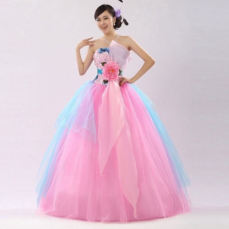 Dressv Reviews Charming Glamorous Pink Wedding Dress