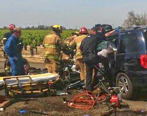 Honda Pilot SUV Car Collision selma bethel dinuba avenue fresno county crash