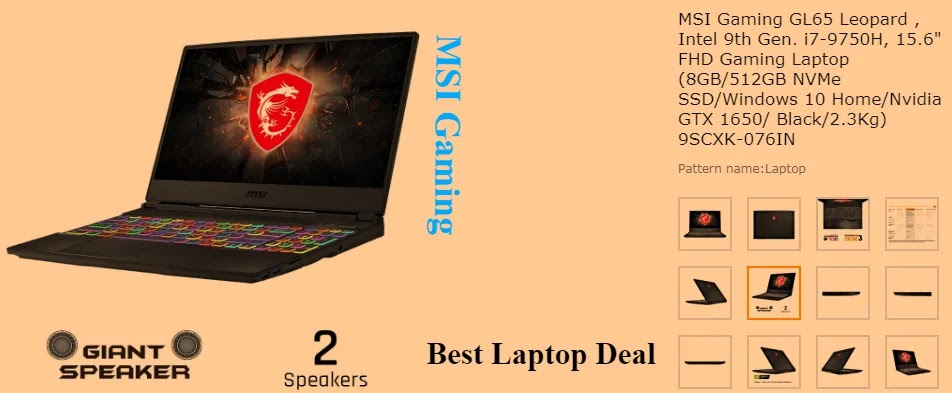 MSI Gaming GL65 Leopard, Intel 9th Gen. i7