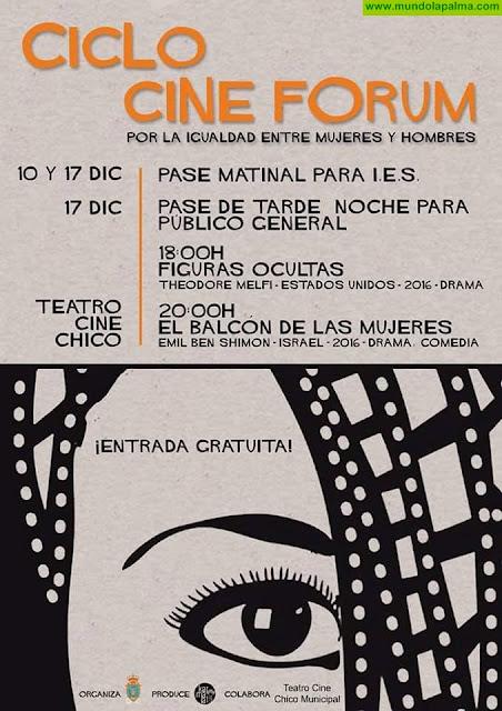 """Ciclo Cine Forum """"Por la igualdad entre mujeres y hombres"""""""