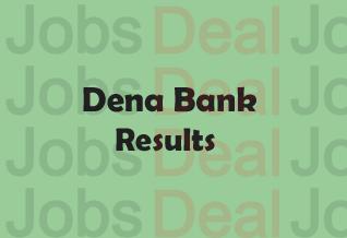 Dena Bank PO Result 2017