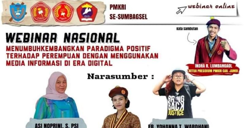 Peringati Hari Kartini, PMKRI Regio Sumatera Bagian Selatan Laksanakan Webinar Nasional