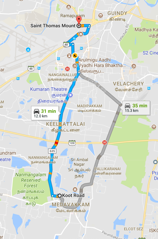 Share auto routes chennai medavakkam koot road to stomas route map sciox Choice Image