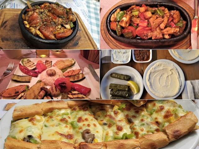 piatti vegetariani e di carne a istanbul