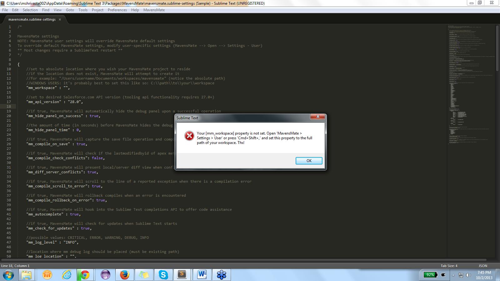 Apex System Error