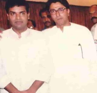 Bharat Jadhav With Raj Thackeray