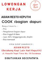 Lowongan Kerja Surabaya di Agian Resto Keputih Januari 2021