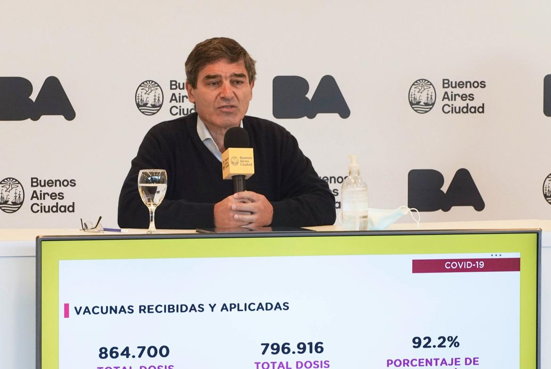 """Quirós adelantó que la situación epidemiológica para la primavera en Argentina podría ser """"francamente mejor"""""""