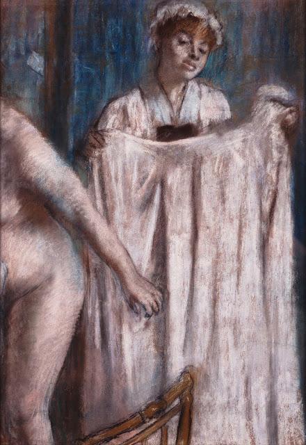 Эдгар Дега - Туалет после купания (1888-1889)