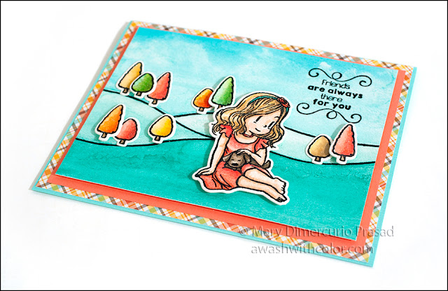 Prima Watercolor Confections and Faber-Castell Polychromes colored card