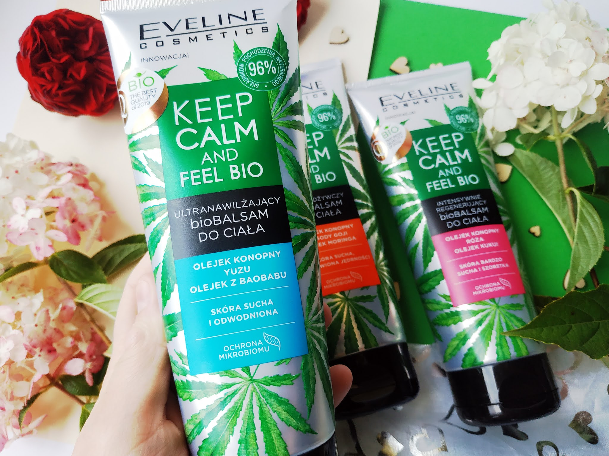 Eveline Keep Calm and feel bio balsam do ciała z olejkiem z konopii