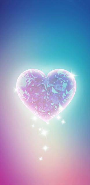 Papel De Parede Celular Coração Brilhante