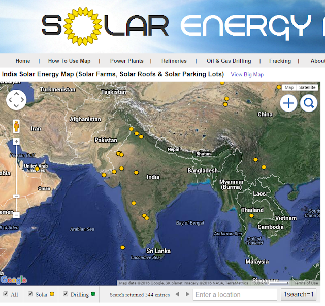 Map of Solar Farms in India