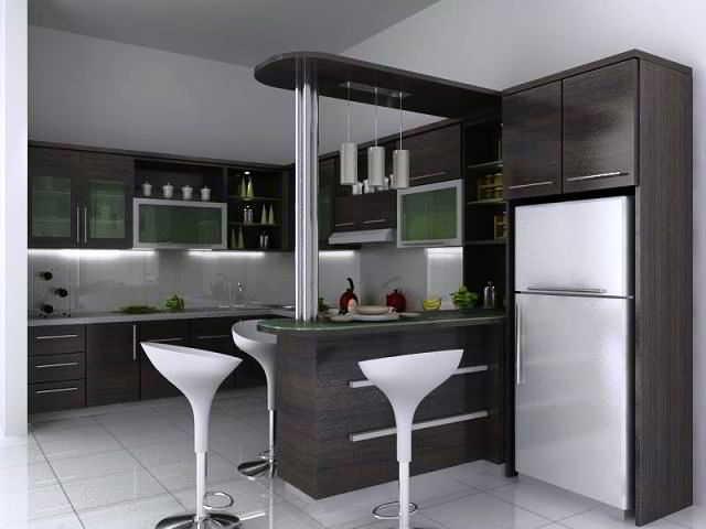 Desain Dapur Tipe L