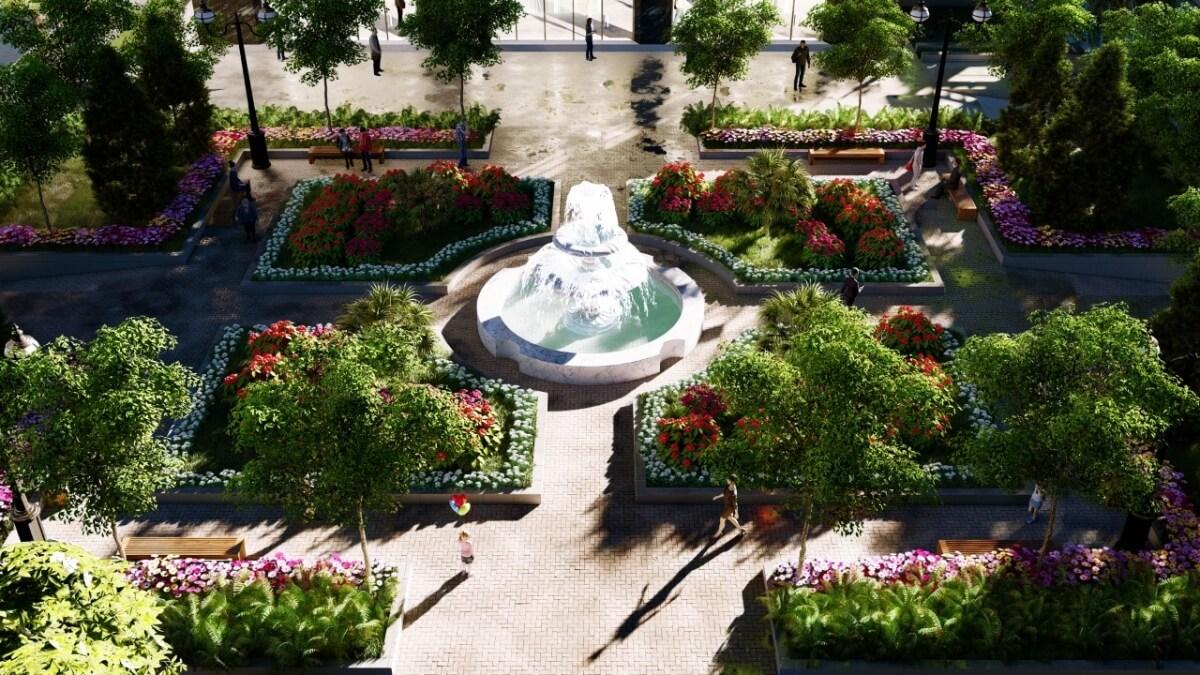 Quảng trường dự án Xuân Mai Ngọc Hồi