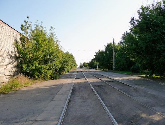 Константиновка. Трамвайная линия без трамваев