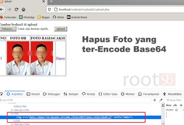Tutorial PHP : Menghapus Foto yang di Encode Base64