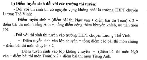 Phương án tuyển sinh vào lớp 10 do Sở GD-ĐT tỉnh Đồng