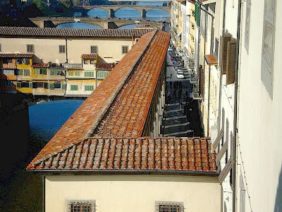 The Vasari Corridor from above