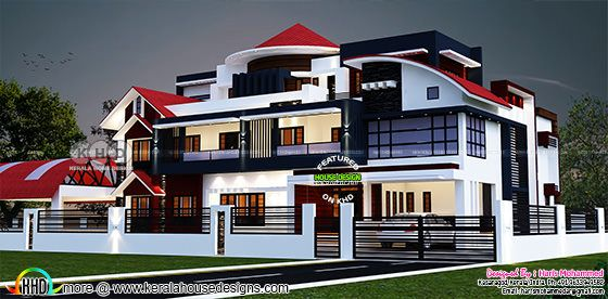 Luxury modern decorative house plan
