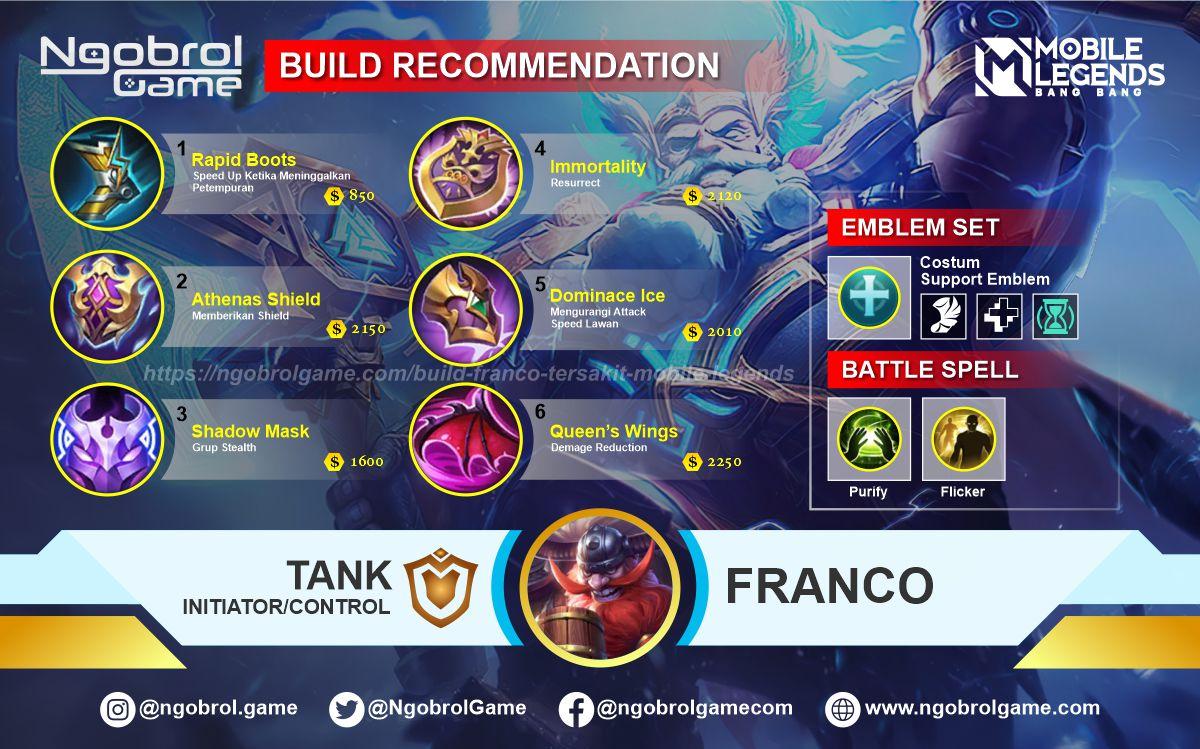 Build Franco Top Global Tersakit Mobile Legends