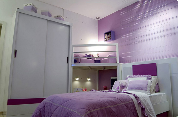 Dormitorio lila para ni a via for Dormitorios colores calidos