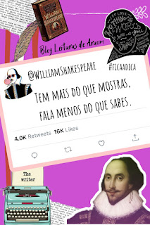 FRASES PARA STATUS DO WHATSAPP - William Shakespeare