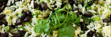 Cilantro Lime Black Bean Rice #vegan #recipes