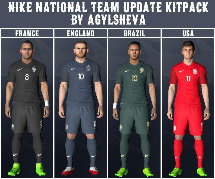 ultigamerz: PES 2017 Nike National Teams 2017 Kits Update