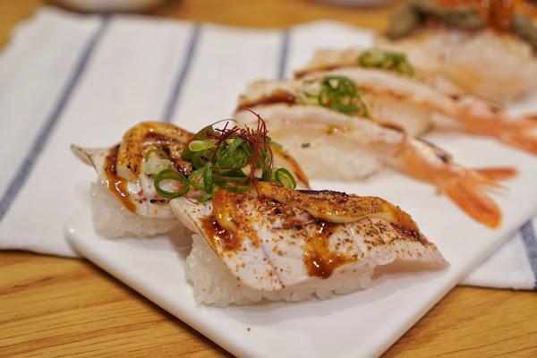 台南南區美食【伊豆讚壽司專賣】餐點介紹-炙燒旗魚