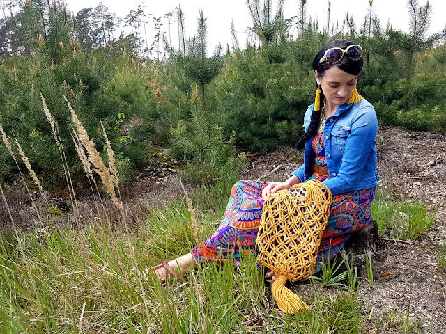 moda zero waste - torebka ze sznurka - torba ze sznurka - diy - torba makrama - torba na zakupy ze sznurka - rękodzieło - handmade by Ola - ekologiczna torba