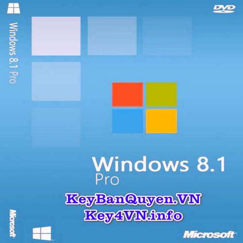 Mua bán key bản quyền Windows 8.1 Pro Full 32 và 64 Bit .